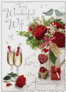 Wife Large Wedding Anniversary Card